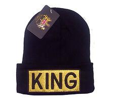 King Gorro Tejido Gorra Sombrero de cráneo-Nuevo Diseño