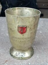 VINTAGE RARE BRASS CUP / SHIELD PRESENTED BY JUNIOR LEADERS WING