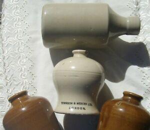 Small Antique Glazed Earthenware Laboratory Jars Townson & Mercer Ltd London