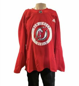 New Jersey Devils adidas Authentic Practice Jersey - Red. Size 58