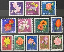 - Polen Poland 1964 Mi. Nr. 1541-1552 ** postfrisch MNH Blumen flowers