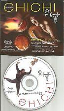 CHICHI PERALTA Amor Narcotico PROMO Radio DJ CD single w/ PRINTED LYRICS USA
