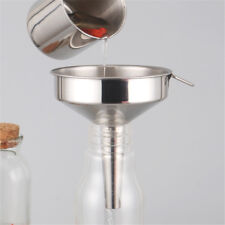 Stainless Steel Funnel Wide Mouth Oil Liquid Funnel Strainer Filter Kitchen Tool