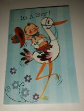 Vintage Baby Announcement Cards 12 Cards It's A Boy by Fairfield