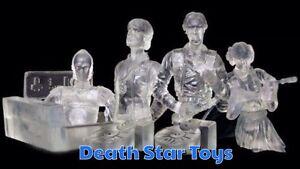 Star Wars Gentle Giant Bust Ups Clear Invisible Rebel Set Leia Luke Han C-3PO