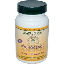 Pycnogenol - 60 - 100mg Veg Caps by Healthy Origins - Maritime Pine Bark Extract