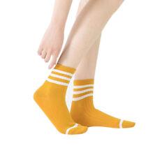 5 Pairs Teen Women's Kawaii Stripe Cotton Socks Soft Sport Sock