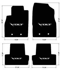 NEW! FLOOR MATS 2011-2015 Chevy Volt BLACK W/ Embroidered VOLT Emblem Logo ALL 4