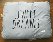 Rae Dunn LARGE Dog Pillow Bed SWEET DREAMS. NEW! Removable Cover HTF! Fast Ship!