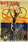 Girl Holding Bicycle Bike Cycle Deesse Paris Sport Vintage Poster Repro FREE S/H