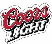 """Coors Light Beer Vinyl Sticker Decal 2""""x 2.5"""" Car Bumper Laptop Toolbox"""
