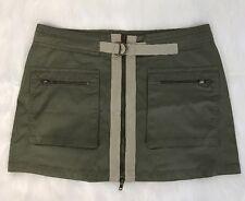 Boom Boom Womens Olive Stretch Denim Mini Jeans Skirt Size 12 NEW