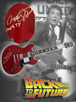 MICHAEL J FOX SIGNED RED BACK TO THE FUTURE FS GUITAR BECKETT BAS COA MARTY