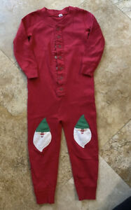 Hanna Andersson Gnome Button Down Long John Sleeper Christmas Holiday Pajama