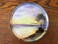 """Noritake Plate Swan Lake Hand Painted Vintage Japan 6"""""""