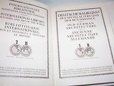 Antique 1920 OLD GERMAN ARCHITECTURE - Deutsche Baukunst Des Mittelalters Und...