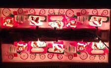 VINTAGE CHRISTMAS LIGHTED TRAIN TEDDY BEAR  BLOW MOLD LIGHT SET