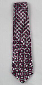 Polo Ralph Lauren Blue Label Purple Green Italy Silk Neck Tie