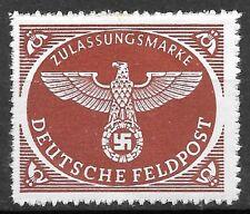 Germany's Third Reich 1942  Mi# 2 Fieldpost Stamps MNH **