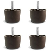 "1 1/2"" Universal Brown Plastic Sofa Furniture Legs - Case of 200"