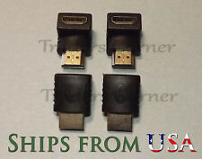 4PCS HDMI 90 Degree Male to Female Adapter for HDTV, Bluray, Cable/Sat Set Box