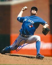 CASEY JANSSEN signed 8x10 photo TORONTO BLUE JAYS WITH COA A