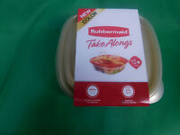 """Rubbermaid """"Take Alongs"""" Storage Containers - 1 Sets of 4 - 2.9 Cups N1-25"""
