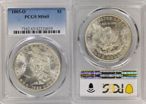 1885-O MORGAN SILVER DOLLAR PCGS MS65 ~ EXQUISITE GEM ~ MINT LUSTER ~ PQ 👀