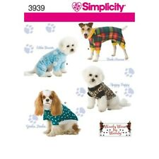 Simplicity Woofy Wear by Wendy Crafts Sewing Pattern 3939 Dog Clothes