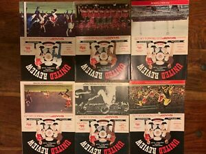 Joblot of 6 x Manchester United 1980s Friendly/Cup Home Programmes