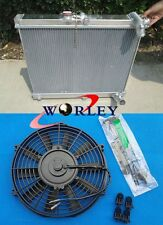 3 Row 56mm Aluminum radiator + Fan FOR mazda RX7 FC3S S4 1986-1988 1987 86 87 88
