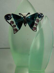 SWAROVSKI Crystal Alua Indicolite, Schmetterling Brosche 719484