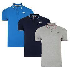 Crosshatch Cotton Polo Shirt T-shirt Plain Print Top New Grey Navy Blue Downtalk