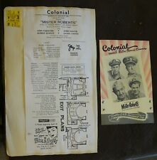 1950 Scrapbook Page PLYMOUTH THEATRE Katharine Cornell COLONOAL Mister Roberts