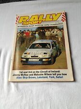 Rally Sport May 1988  1st and 3RD on the circuit of Ireland J Mcrae  & M Wilson