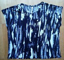 Ladies Top T-Shirt J FREE Large Black & White