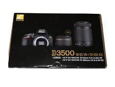 NEW Nikon D3500 DSLR Camera with 18-55mm and 70-300mm Lenses - Black