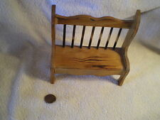 Bench, Miniature Child's Wood, Vintage