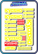 KYOSHO MODEL RC CAR DRONE BOAT BUGGY MINI Z STICKERS DECALS ROBOT R/C YELLOW W