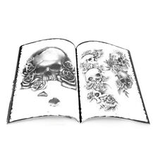 76 Pages Skull Design Tattoo Sketch Flash Instrcution Book Reference Supplies A4