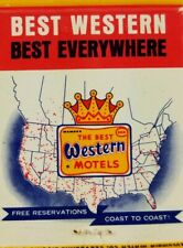 Vintage matchbook cover Best Western motel Columbia match co. San Simeon CA.  D