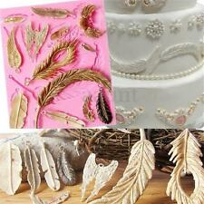 Wing Feather Angel Fondant Silicone Mould Icing Cake Sugar Bake Mold craft Deco