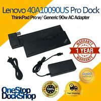 Lenovo 40A10090US ThinkPad Pro Dock w/ Generic 90W AC Adapter 40A1