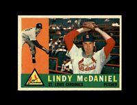 1960 Topps Baseball #195 Lindy McDaniel (Cardinals) NM