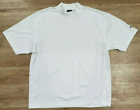 Nike Mens Shirt XL Golf Mock Neck Short Sleeve White
