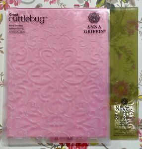 NEW  APRIL GARDEN Anna Griffin Embossing & Border Folders Lot spring flower rose