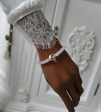 Echtschmuck im Kette-Stil mit Rosenquarz-Armbänder aus