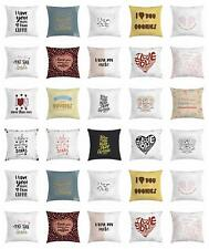 I Love You More Throw Pillow Cases Cushion Covers Home Decor 8 Sizes