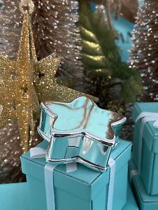 "Tiffany&Co. Star Trinket Box Makers Sterling Silver 2003 1.75"" W Box Stunning!"