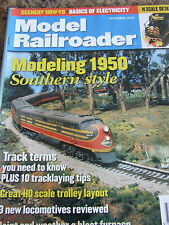 MODEL RAILROADER MAGAZINE NOV 2002 1950 SOUTHERN STYLE TRACK TERMS TROLLEY LOCO